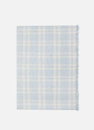 marianne plaid blue tablecloth