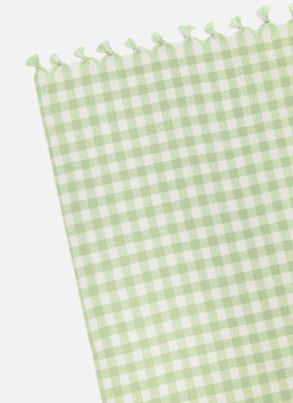 MINI GINGHAM HONEYDEW TABLECLOTH