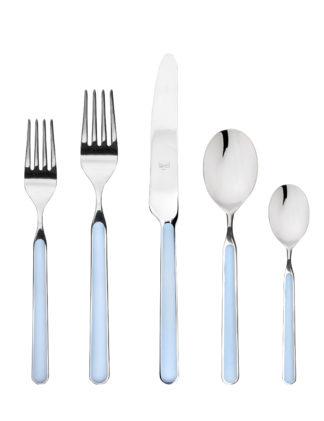 light blue flatware