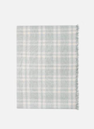 marianne plaid sage tablecloth