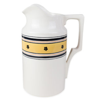YELLOW HAND-PAINTED CERAMIC PITCHER