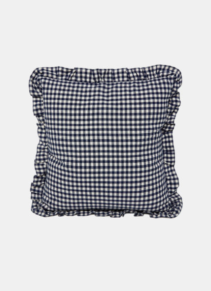 Indigo Mini Gingham Pillow
